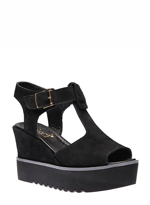 İnci Dolgu Topuk Ayakkabı Siyah